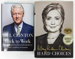 Bill & Hillary Clinton Signed Books (2)