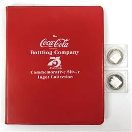 Coca-Cola 75th Anniversary Silver Ingot Collection