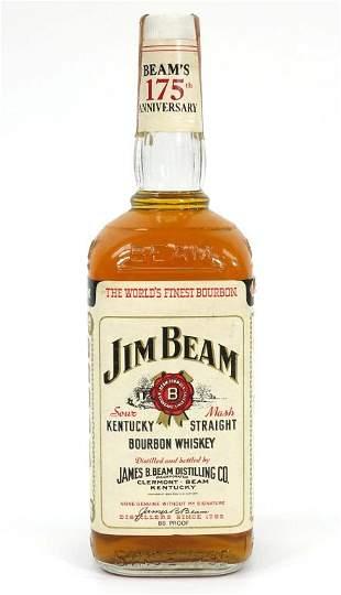 Jim Beam Bourbon Whiskey Bottle