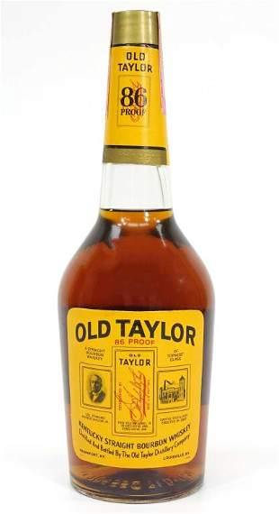 Old Taylor Bourbon Whiskey Bottle