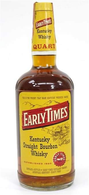 Early Times Bourbon Whisky- 1 Quart Bottle