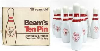 FULL CASE! - 12 Beam's Ten Pin Whiskey Bottles