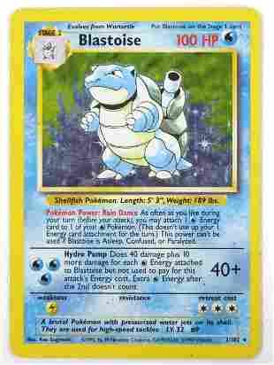 Blastoise Base Set Holo Pokemon Card (Rare)