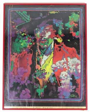 1970 Jimi Hendrix Screen Print (Black Light)