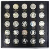 1970 Franklin Mt Sterling State Medals (22 ozt)