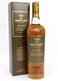 Macallan Edition 1 Scotch Whisky Bottle
