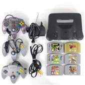 Nintendo 64 Console With Controllers  Games