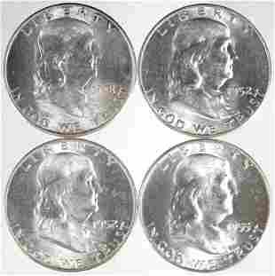 Franklin Half Dollars - CH BU? (4)