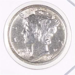 1916 Mercury Dime (XF/AU?)