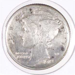 1917-s Mercury Dime (XF/AU?)