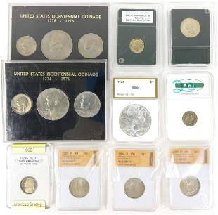Eclectic Lot of Slabbed Coins