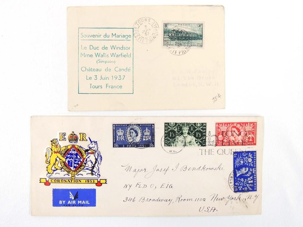 Coronation Cover & Duke of Windsor Stamps