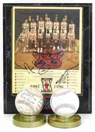 Sports Lot- Baseballs, Signed Bulls Photo