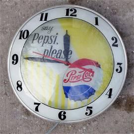 1950s Say Pepsi Please Double Bubble Clock