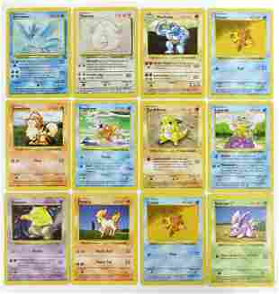 Collection Of 12 Base Set Pokemon Cards