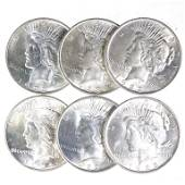 Peace Silver Dollars (6)