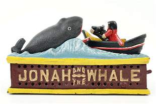Cast Iron Bank - Jonah & The Whale