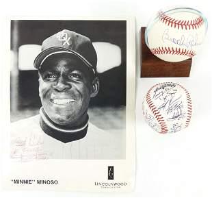 Minnie Minoso & Brooks Robinson Autographs