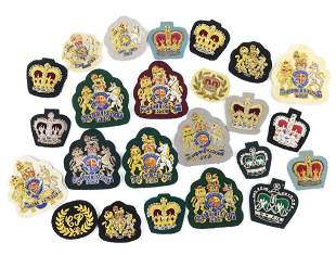 Collection of British Bullion Military Patches