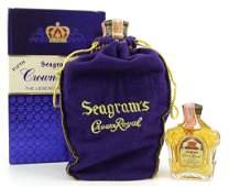 1963 Seagrams Crown Royal Bottles (2)