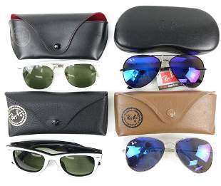 (4) Pairs Of Ray Ban Sunglasses