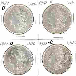 921-d Morgan Silver Dollars (4)