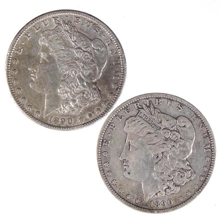 1890 & 1890-s Morgan Silver Dollars