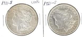 1921-s Morgan Silver Dollars (2)