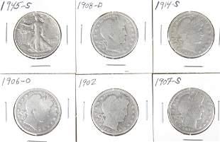 Silver Half Dollars (6)