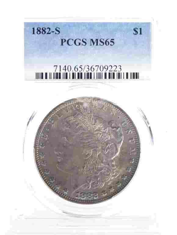 1882-s Morgan Silver Dollar (PCGS MS65)