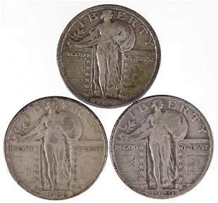 Standing Liberty Quarters (3)