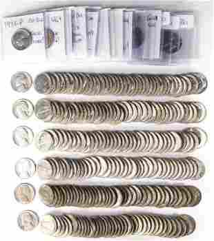 Jefferson Nickels (15 Loose + 6 Rolls)