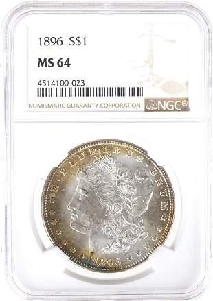 1896 Morgan Silver Dollar (NGC64)