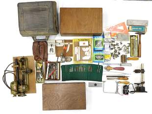 Assortment of Tools and Woodworking Machines
