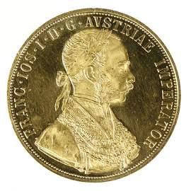 1915 Austria-Hungary 4 Ducat Gold Coin