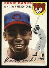 Ernie Banks 1954 Topps Baseball #94 Rookie Card