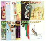 1958 Playboy Magazines (All 12)