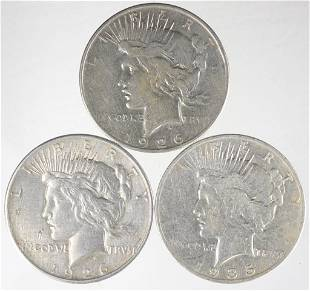 Peace Silver Dollars - Better Dates (3)