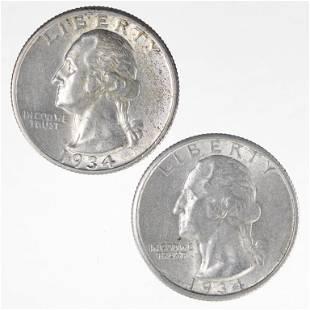 1934 Washington Quarters (Higher Grade)