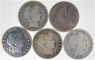 Early Half Dollars - 2 Better Dates (5 Total)
