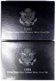 1992 & 1994 Silver Proof Sets