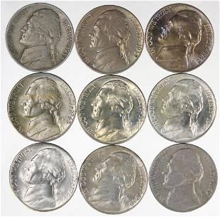 Jefferson Nickels - Earlier / Nicer Coins (9)