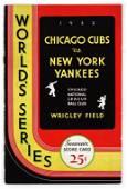 1932 World Series Scorecard (Ruth's Last WS Game)