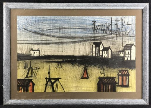 Fabulous Bernard Buffet Original Lithograph 1968 Download Free Architecture Designs Scobabritishbridgeorg