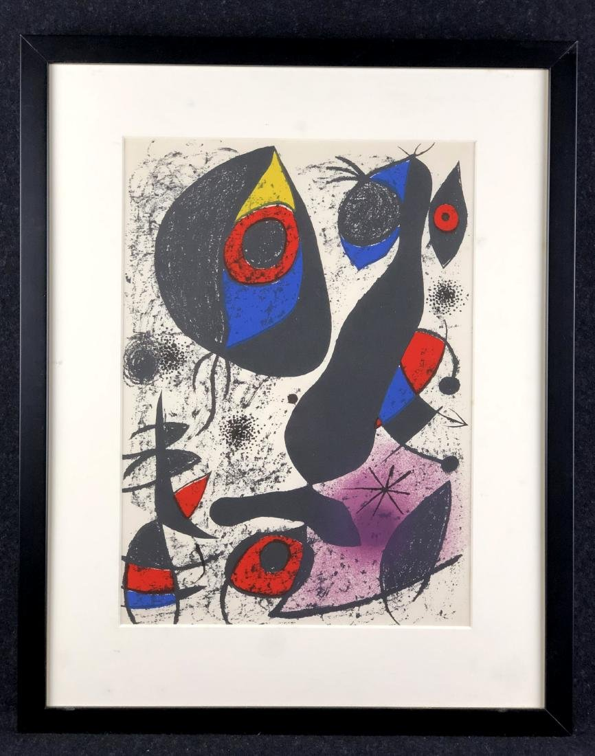 Joan Miro original lithograph, 1972