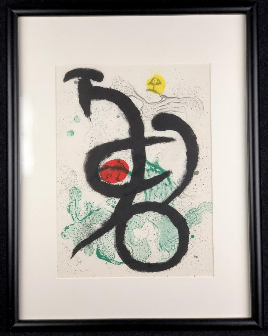 Joan Miro original lithograph, 1963