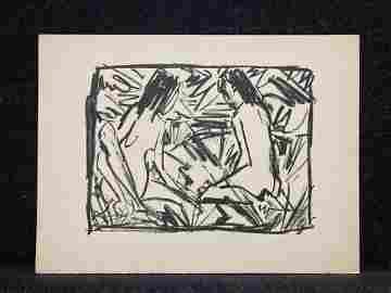 Artist:  Otto Mueller (German, 1874-1930)    Title: