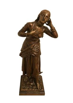 Henri Dumaige Jeanne D'Arc French Bronze Sculpture