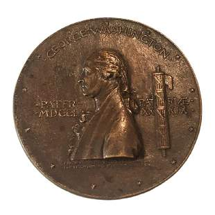 George Washington St Gaudens Centennial Medallion