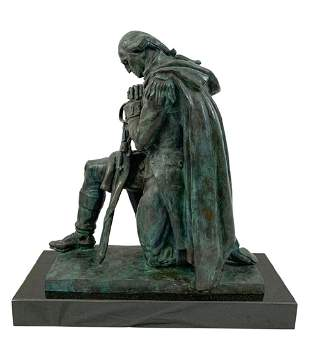 Donald De Lue George Washington Bronze Sculpture